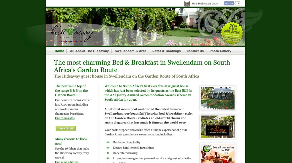 Bed and Breakfast Website